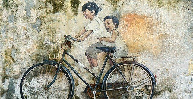 Bicycle Children Graffiti Art Artistic Paint