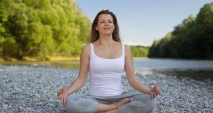 Woman Yoga Meditation Relaxation Nature Stones